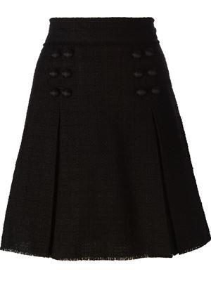 твидовая юбка А-образного силуэта