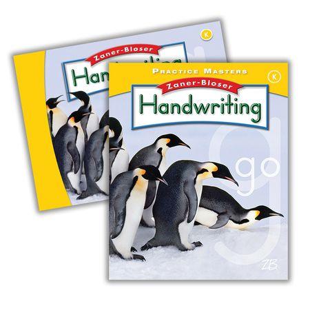 Zaner-Bloser Handwriting Grade K: Student Edition & Practice Masters (Homeschool Bundle -- 2016 Edition)