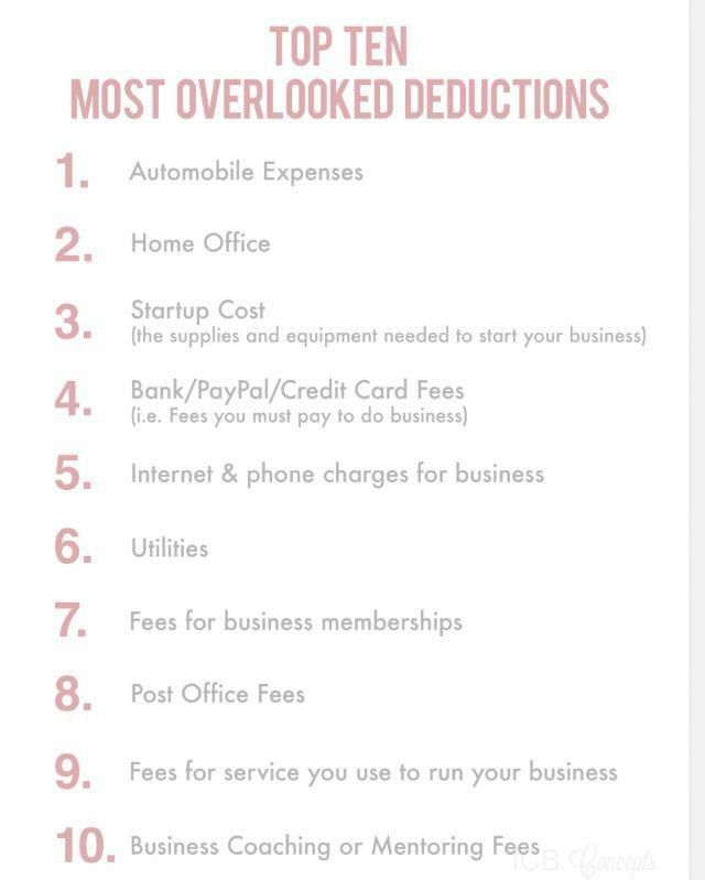 Business deductions that are often overlooked #daycarebusinessplan