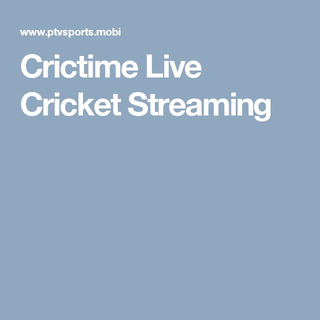 Crictime Live Cricket Streaming                                                                                                                                                                                 More