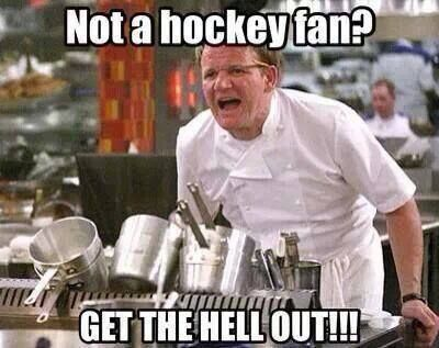 Not a hockey fan? Get the hell out!