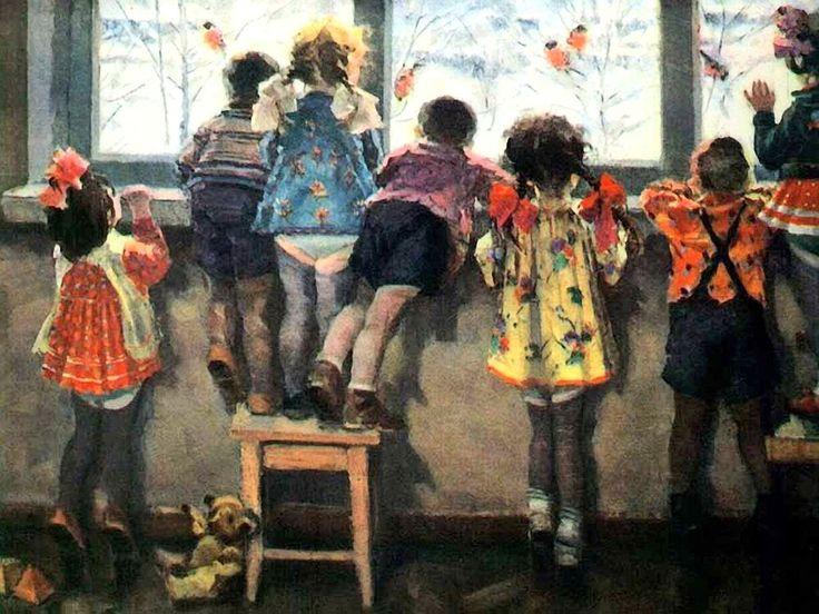 """Снегири / The bullfinches"". Н. Ульянов. (N. Ulianov)"