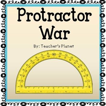 In Protractor War students learn and understand how to read a protractor. This fun card game that we all grew up with is now in an educational version of Protractor War. Students flip over their cards at the same time and read the measurements on their protractors.