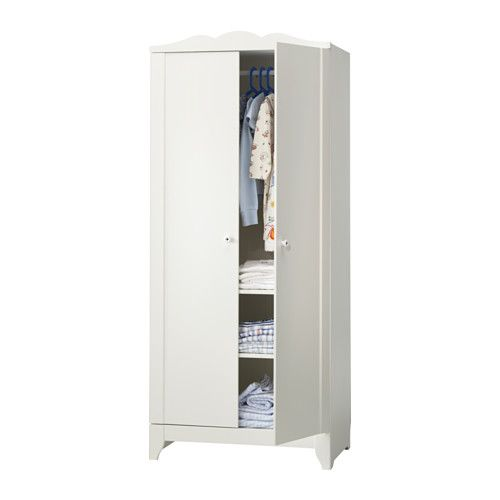 "HENSVIK 2-door Wardrobe -  29.5"" x 68.5""  - IKEA - $99  -- perfect for easily transforming a small bedroom into a dream walk-in closet (but it stays a bedroom for resale value)"