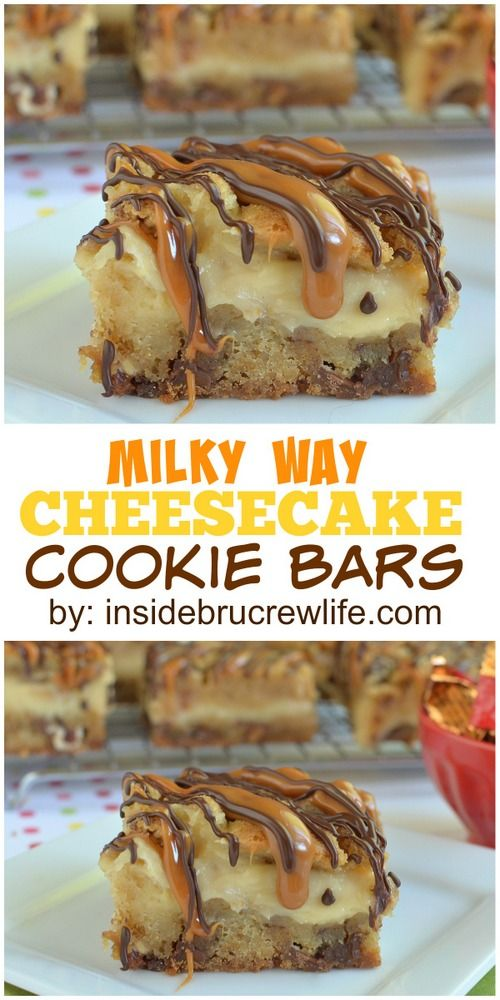 Caramel Apple Milky Way Cookie Bars, need I say more?