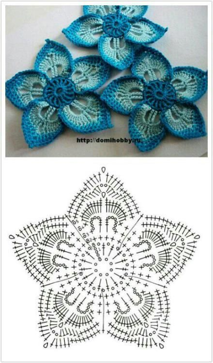 2093 Best Crochet Flowersleaves Images On Pinterest Crocheted