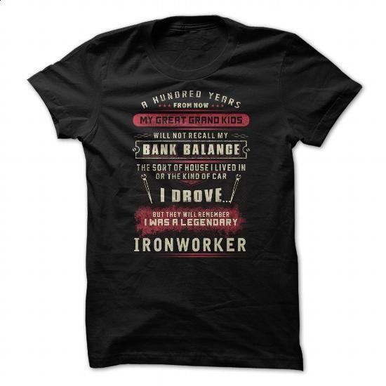 Great - Ironworker - #women hoodies #womens sweatshirts. ORDER HERE => https://www.sunfrog.com/Jobs/Great--Ironworker.html?60505