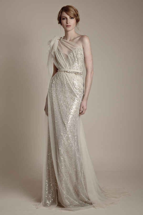 Community: 25 Dazzling Art Deco Wedding Gowns-- this dress is amazing, I'd love it in an off white color