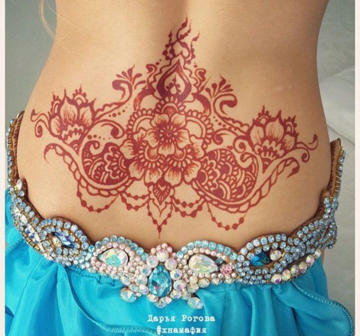 Mehndi Nape Tattoo : Best ideas about back henna on pinterest