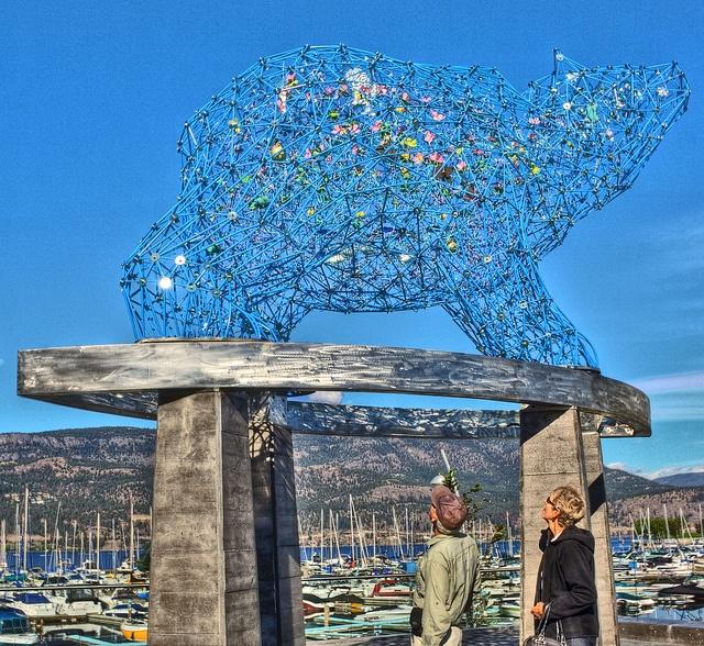 Bear Art In Kelowna (Stuart Park Statue) -- Curated by: JJ's Diner  | 573 Lawrence Ave Kelowna, B.C. v1y 6l8 | 778-484-4988