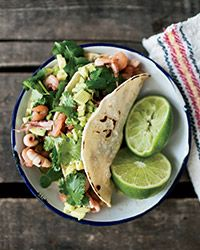 Seafood-Chorizo Tacos Recipe on Food & Wine