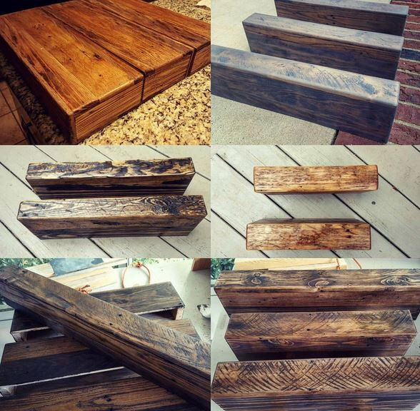Chunky Rustic Wood Floating Shelves by Studio8to10 on Etsy https://www.etsy.com/listing/243976540/chunky-rustic-wood-floating-shelves