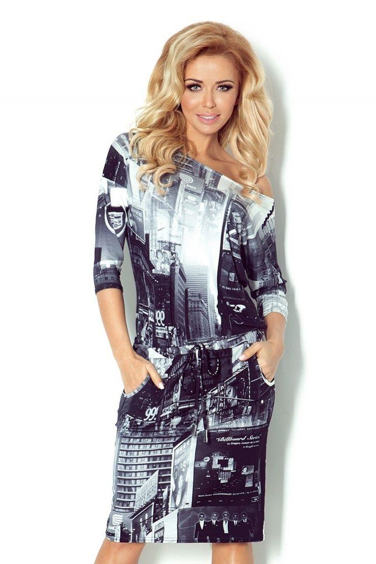 U nas sukienki w modne oryginalne wzory :) #sukienka #mokado #odziez #moda #trendy #fashion #style https://www.mokado.pl/Sukienka-Model-13-40-New-York-Multicolor-p19175