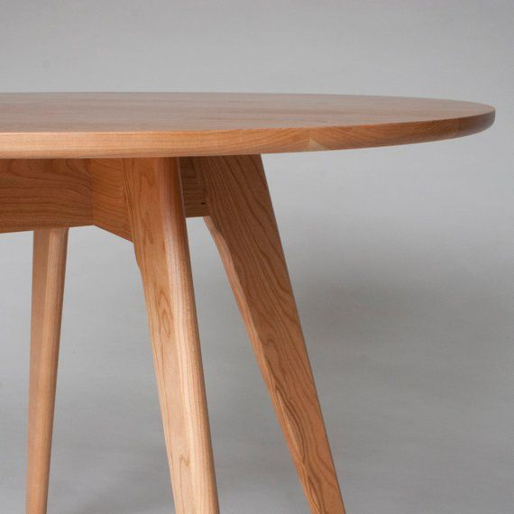 Small Round Mid Century Dining Table 30 Inch Comes In Cherry