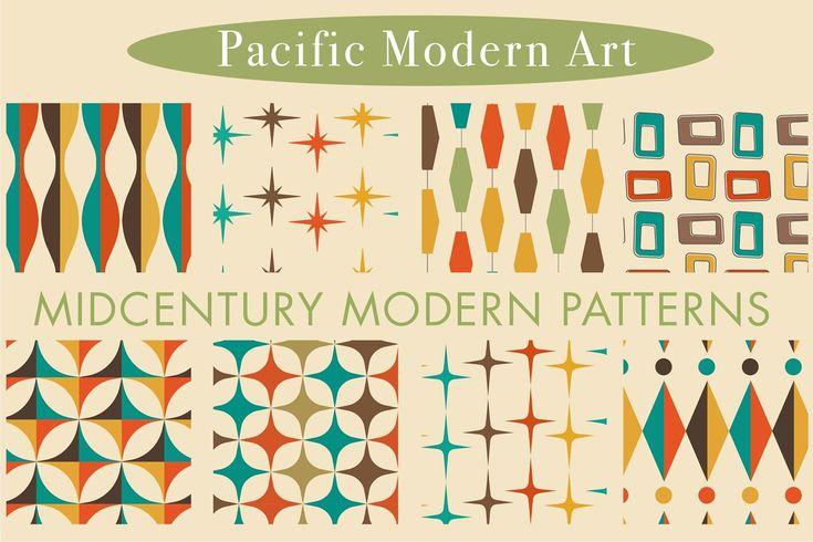 Mid-Century Modern Patterns Vol 2 ~ Graphic Patter…