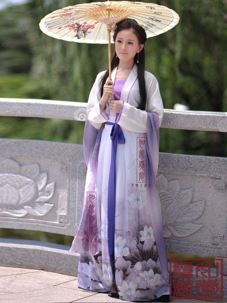 Gorgeous Lotus Print Tang Dynasty Style Ruqun