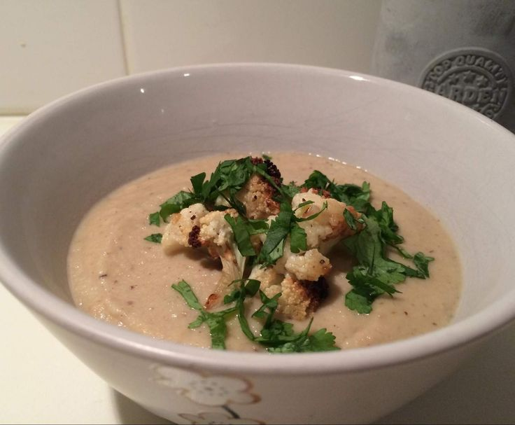 Indian Spiced Cauliflower Soup - Pete Evans (can top with a bit of shredded chicken for protein if needed)