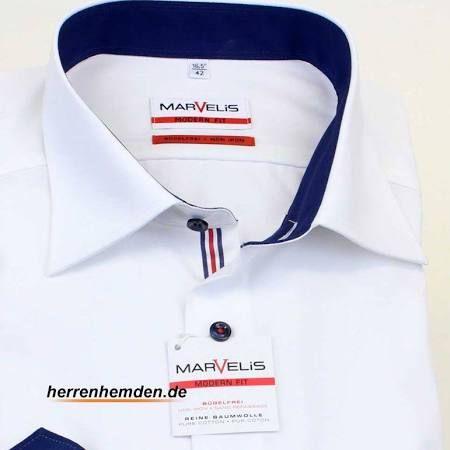 Marvelis Hemd Modern Fit Uni Langarm