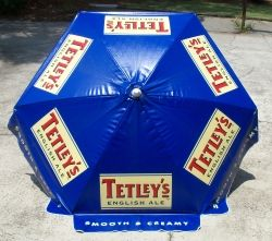 Patio Beer Logo Umbrellas | Tetleyu0027s English Ale Beer Bar Patio Commercial  Umbrella 1