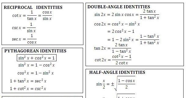 Trig Identities Free Download Simplifying Expressions Math