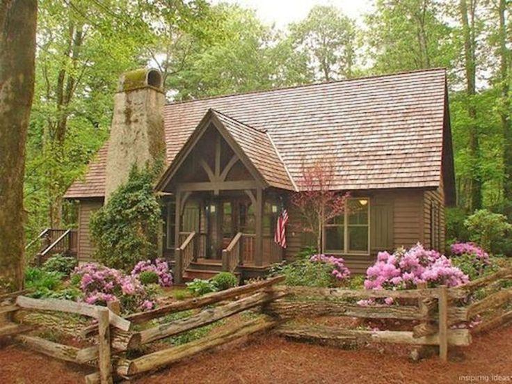 70 Fantastic Small Log Cabin Homes Design Ideas (3