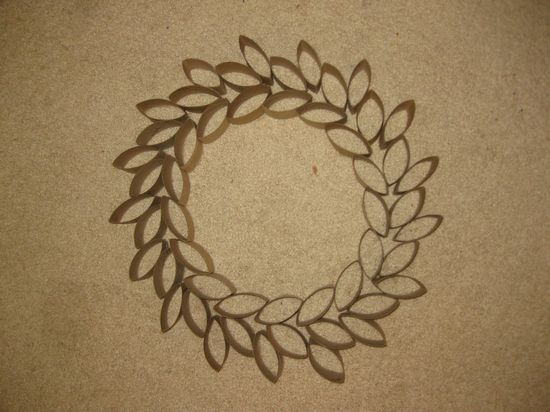 tube wreath + tissue paper behind and make a huge window ornament