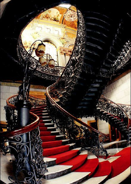 Palácio da Liberdade - Belo Horizonte, MG, Brasil - What an awesome staircase. #architecture #clickseo #marketing #onlinemarketing #design