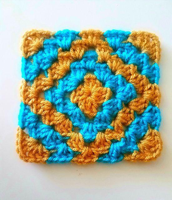 Ravelry: Boho diamond granny square pattern by Six Hampton Crochet