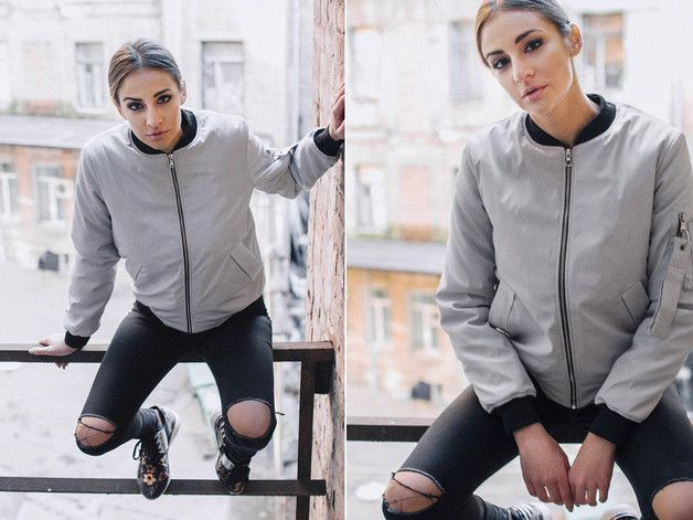 Jackets – ASTRO Warm Women's Bomber Jacket by Fusion – a unique product by Fusion-clothing on DaWanda