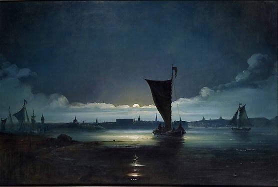 Peder Balke (1804-1887): Stockholm Harbor