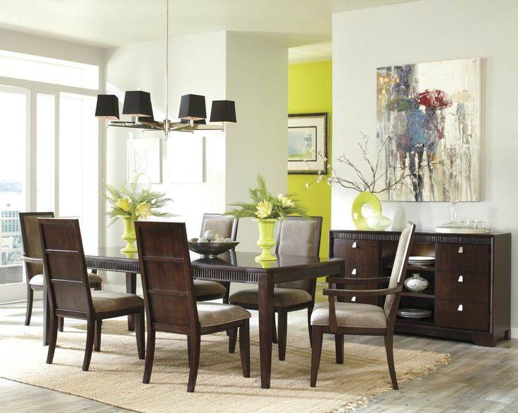 Marxmir Brown Wood Fabric Dining Room Set