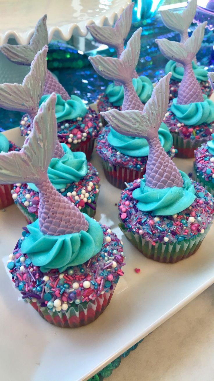 Meerjungfrau Cupcakes. Die besten Cupcakes, die ich je gemacht habe! Von mir!!   – Girls birthday party