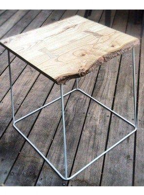 tavolini da salotto quadrato legno e ferro handmade italian design