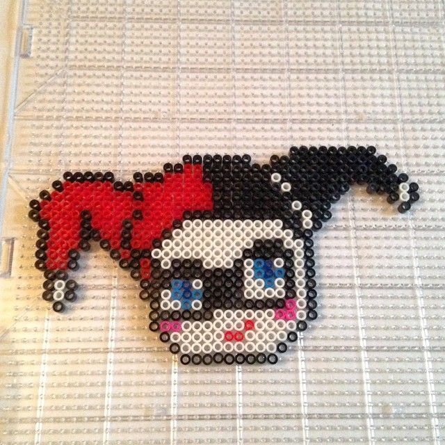Harley Quinn perler beads by funky_cold_m3dina