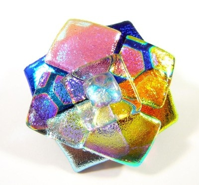 Dichroic Fused Glass Brooch Pin