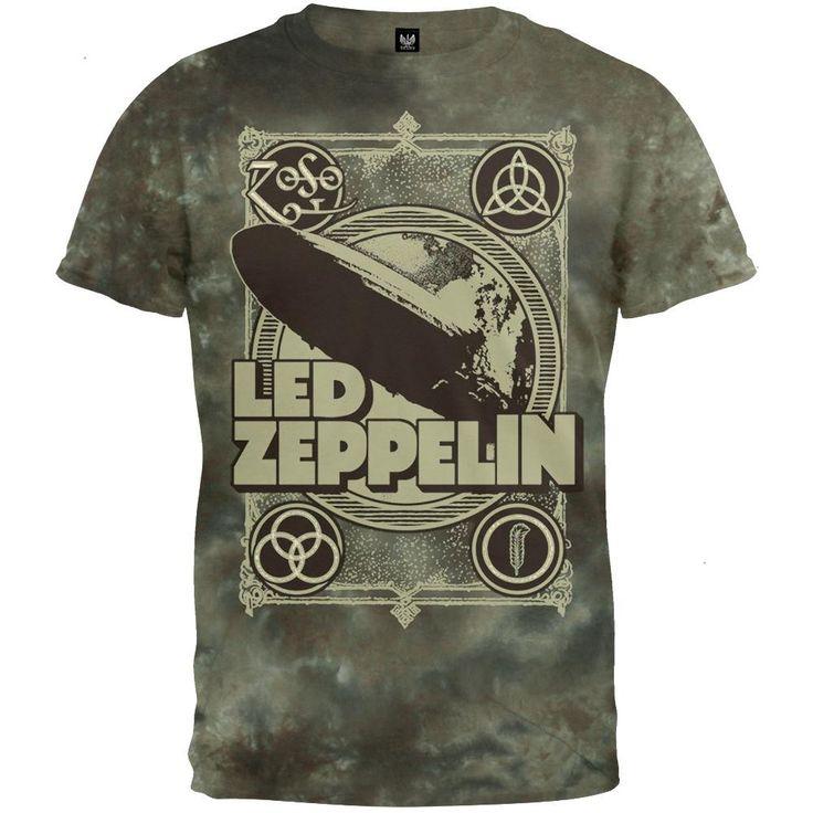 Led Zeppelin - Poster Tie Dye T-Shirt