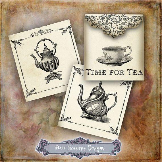 Vintage Teabag Envelopes #scrapbooking #papercrafts #teabagenvelopes