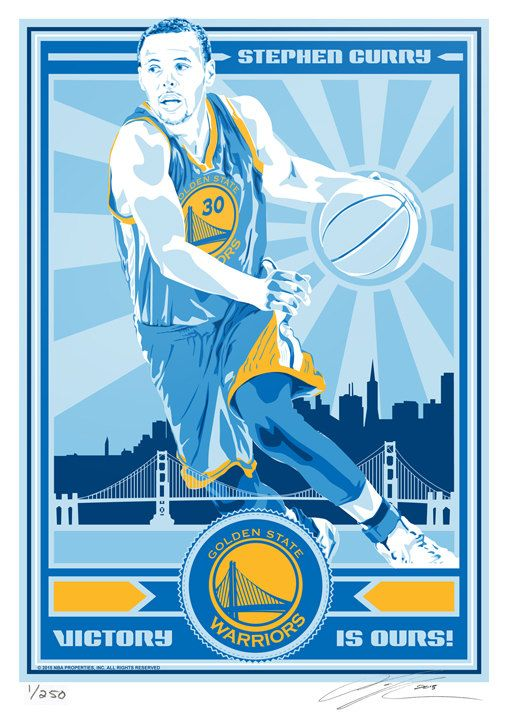 Stephen Curry Golden State Warriors Basketball by SportsPropaganda