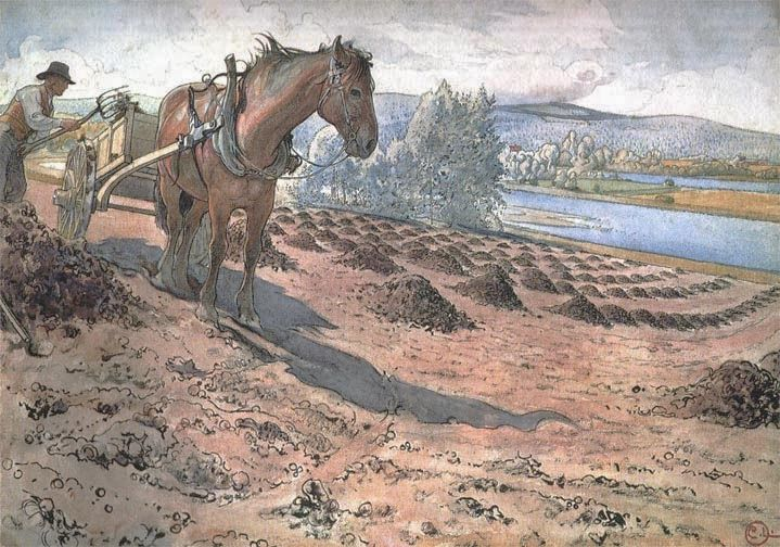 Fertilising the Field - Carl Larsson