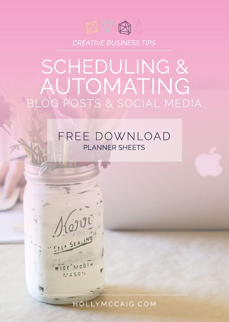 Scheduling and Automating Blog Posts and Social Media. Read my personal process and the apps I recommend to give me back more time to focus on creating in my blogging business. Plus, get free planner sheets to download!