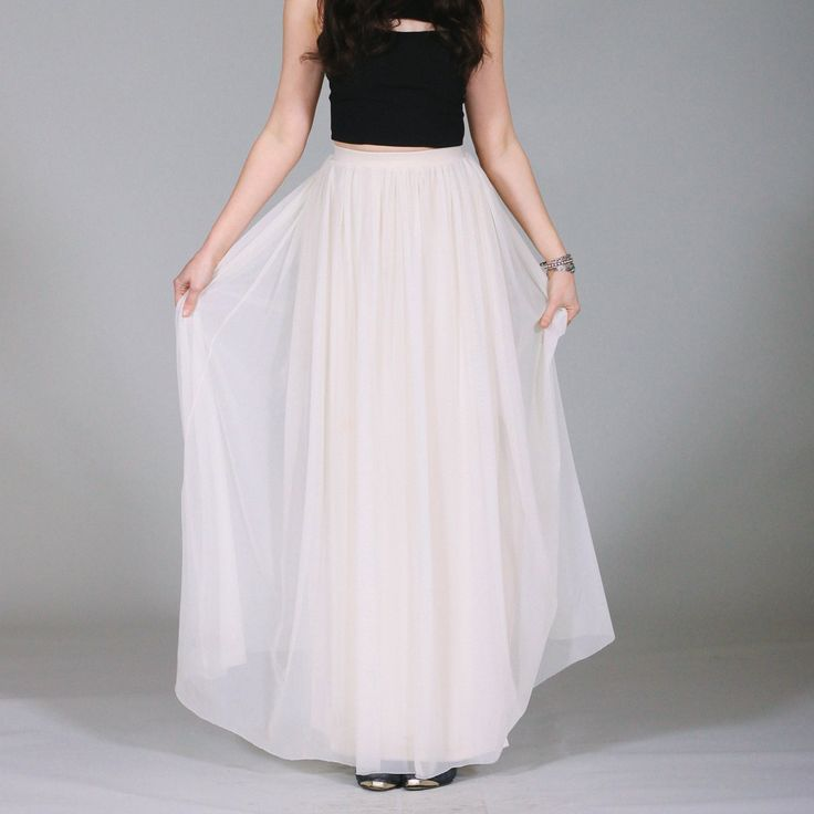 29 best Pretty White Maxi Skirt images on Pinterest