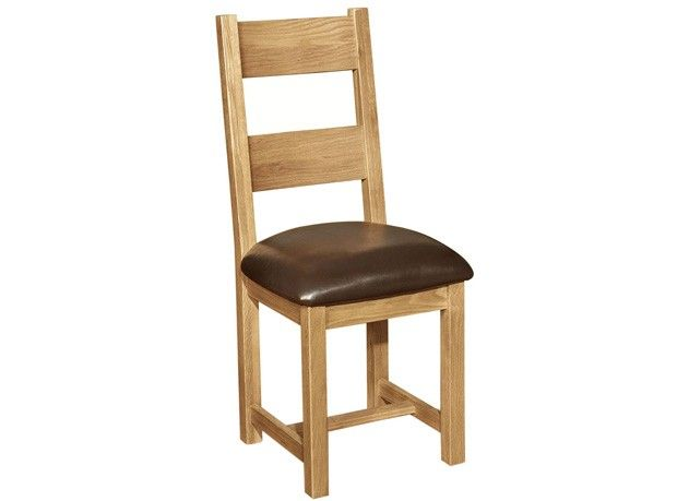 Windsor Oak Dining Chairs with Chocolate Brown Faux Leather Seat Pair  - http://www.solidoakfurniture.co.uk/ranges/windsor-oak/windsor-oak-dining-chairs-with-chocolate-brown-faux-leather-seat-pair.html