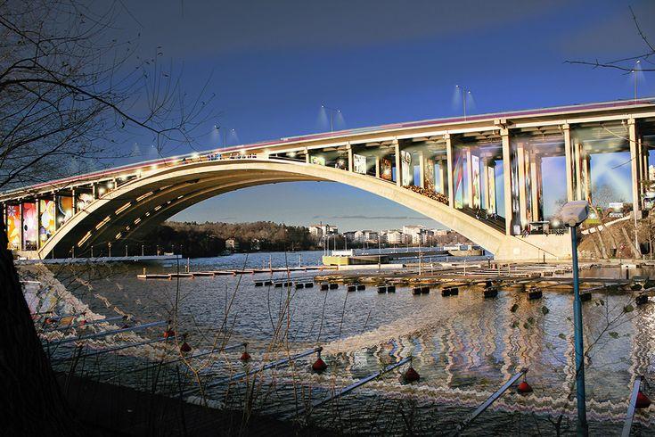 Visiondivision Proposes Pedestrian Promenade Beneath Stockholm Bridge
