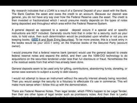 DISCHARGE DEBT & the Promissory Note - Part 1 of 5 - YouTube | promissory note | Promissory note ...