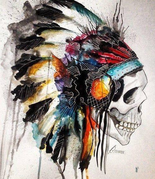 American indian skull