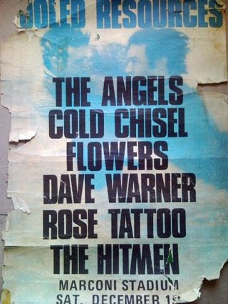 Aussie band posters from the 1980′s