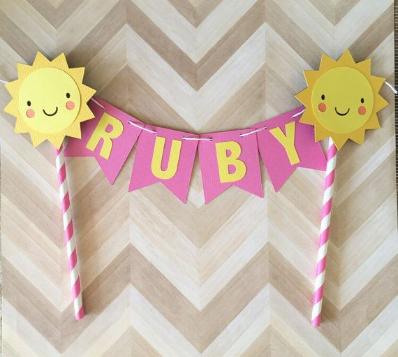 ...♥ Welcome to Phases of Love ♥...  This ADORABLE Little Sunshine Cake Topper…