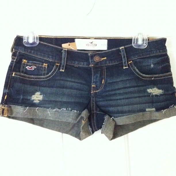 hollister jean shorts | hollister denim short shorts from jennifer's boutique on Storenvy