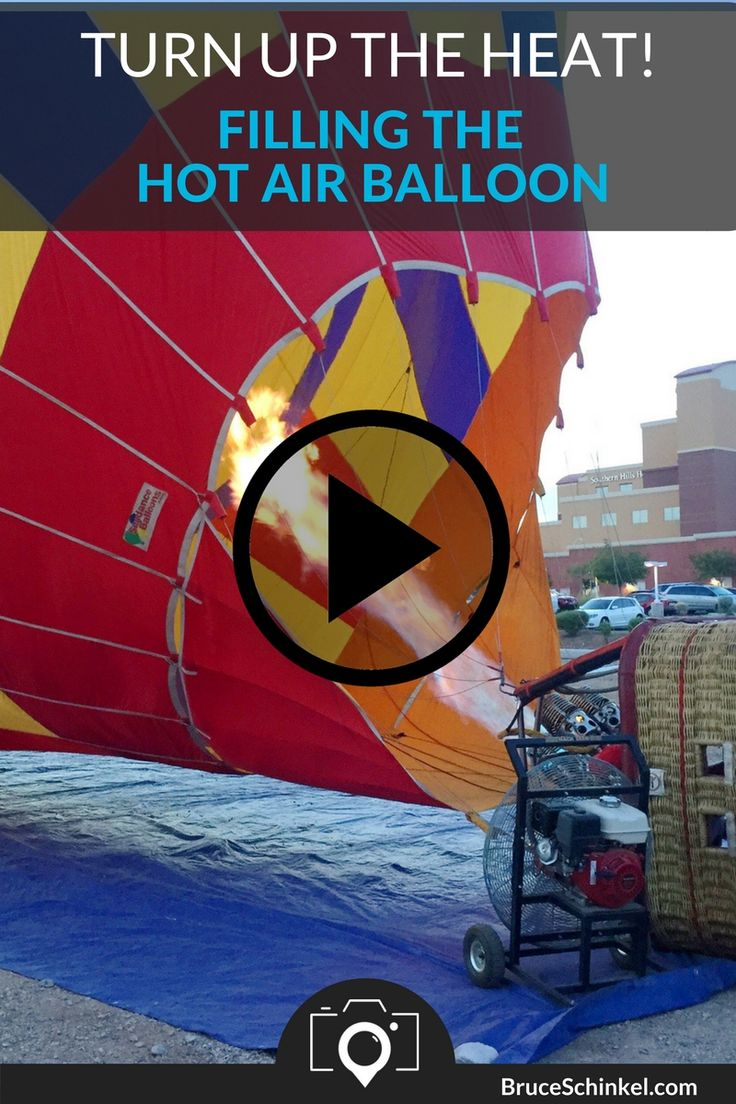 After the balloon's full of air it's time to turn up the heat and get that sucker in the air.