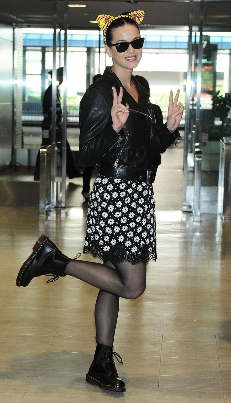 "Ready to ""Roar."" Katy Perry and her cat ears arrive at Narita International Airport on Oct. 30 in Japan: Katyperry, Style, Airports, Katy Perry, International Airport, Cat Ears, Cat Lady"